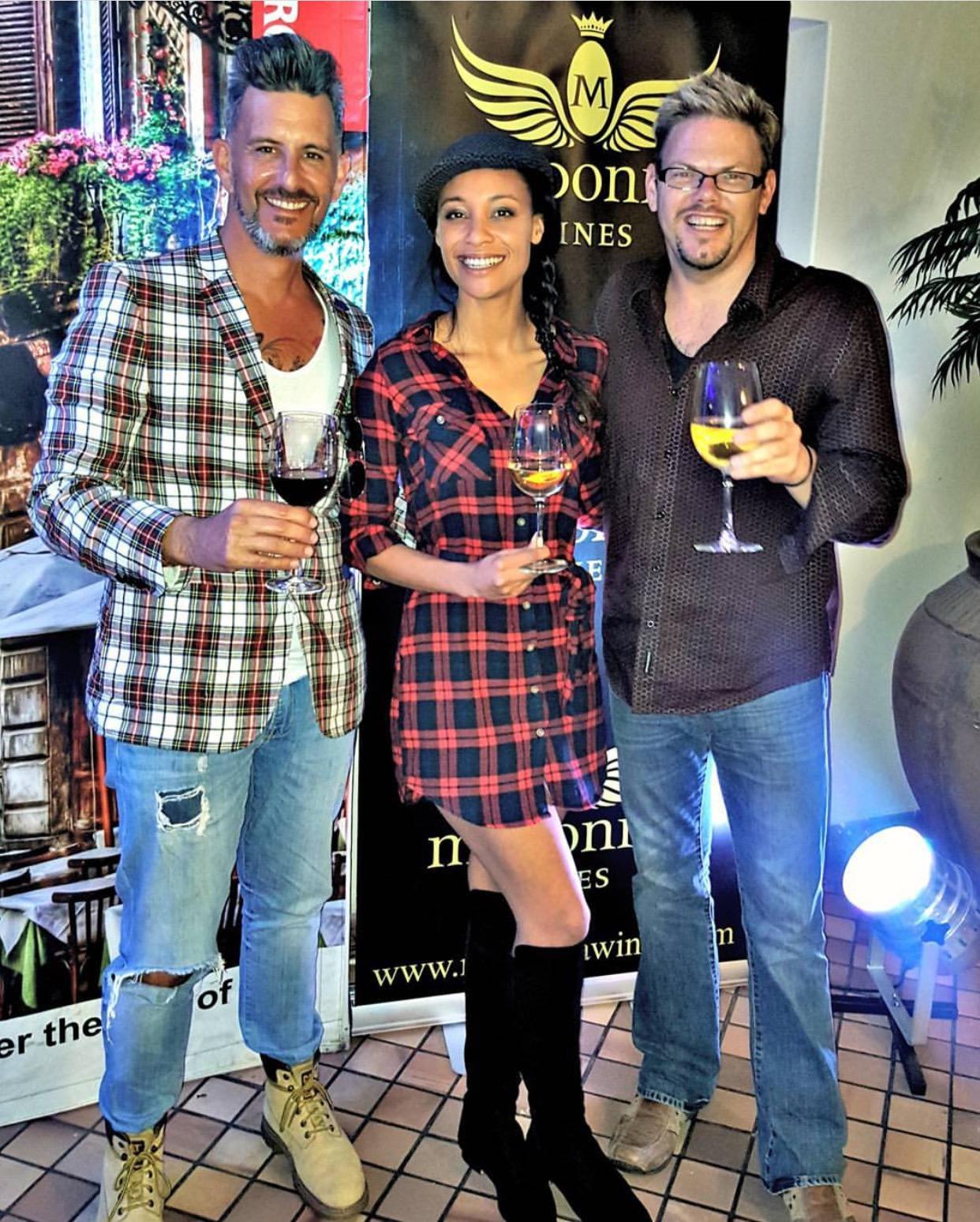 With Madonna Wines Zé Nogueira & Brendan James Macleod